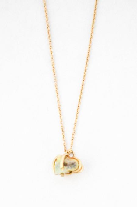 T.Kahres Opal Rough Cage Necklace