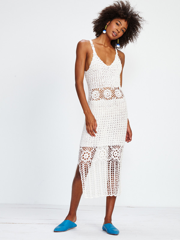 Harare CROCHET LONG DRESS / WHITE