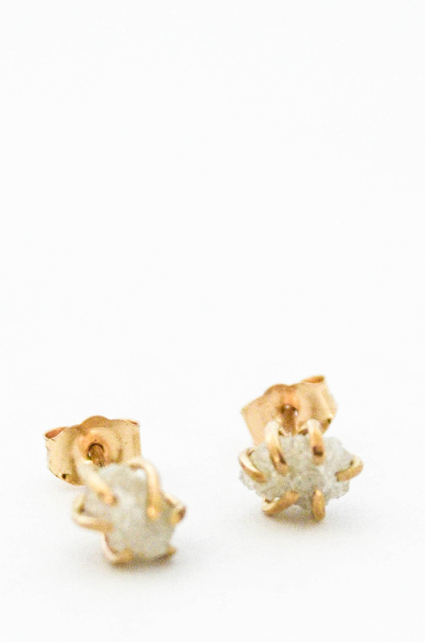 T.Kahres Diamond Rough Cage Studs
