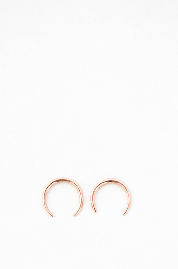 Gabriela Artigas 14K Rose Gold Mini Rising Tusk Earring Set
