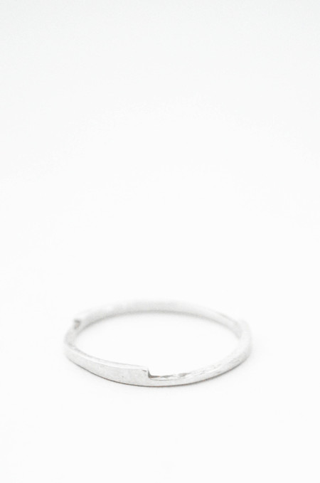T.Kahres Sterling Silver Razor Stack Ring