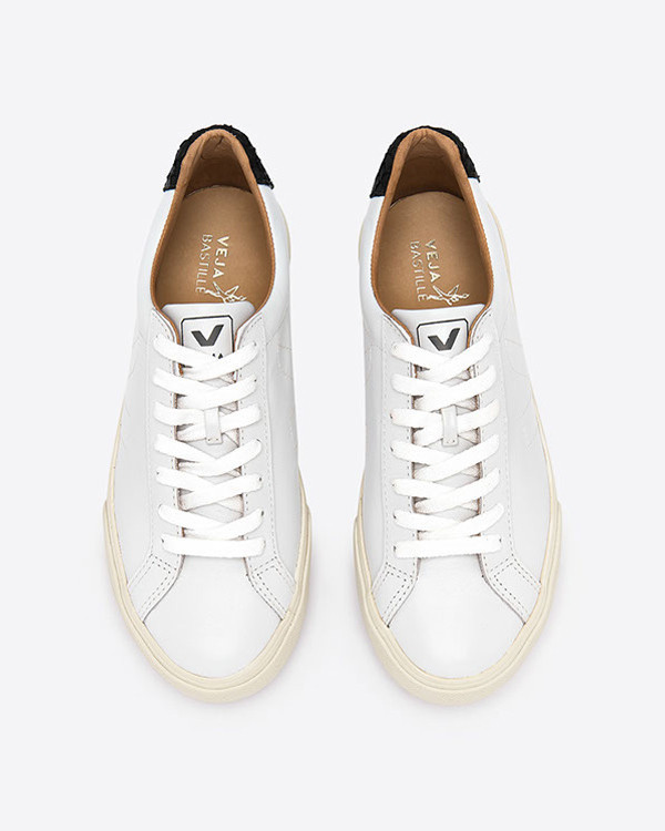VEJA - Esplar Leather Tilapia Extra White Black