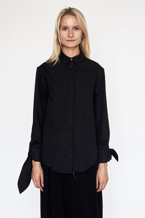 Fabiana Pigna Cotton Kasia Blouse - Black