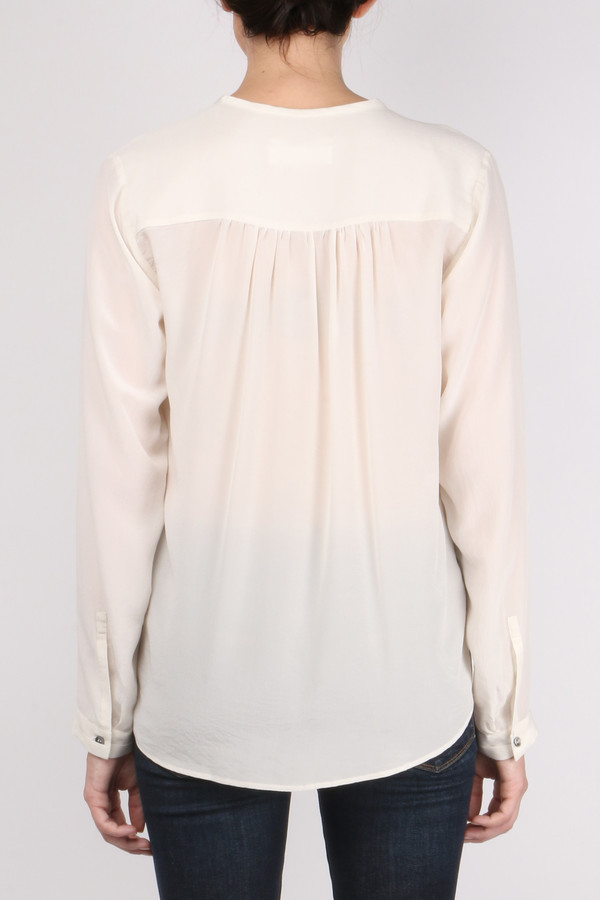 Pomandere Henley Long Sleeve Blouse