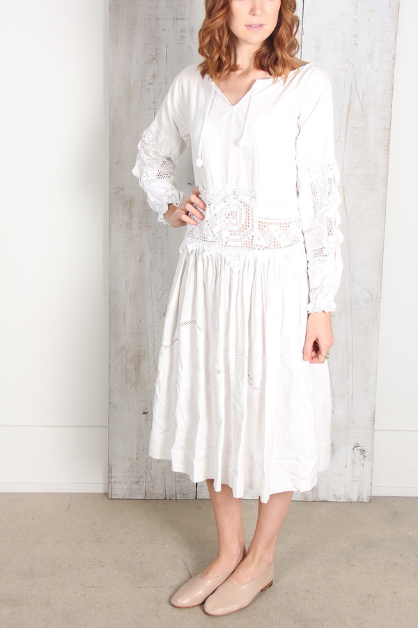 Place Nationale PEASANT LACE DRESS
