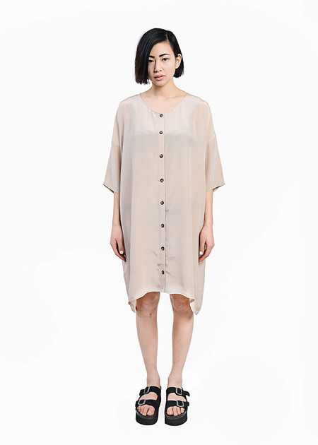 Revisited Matters Crepe Silk Cardigan Dress