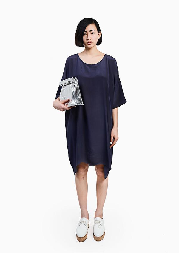 Revisited Matters - Crepe Silk T-Shirt Dress