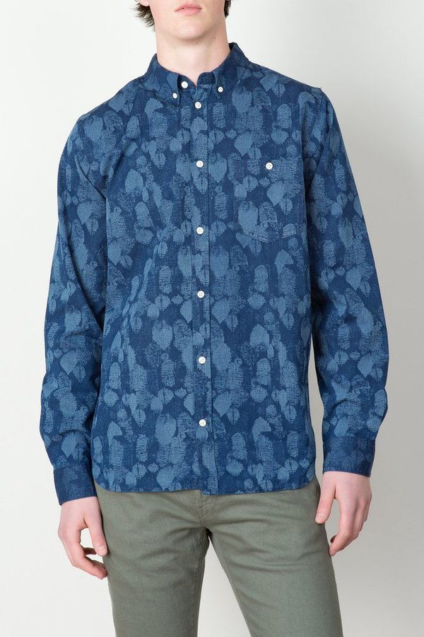 Men's Norse Projects - Anton Indigo Leaf Shirt