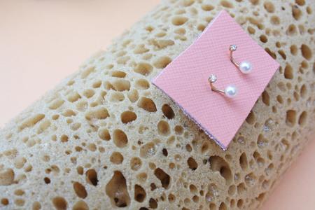 Satomi Kawakita - Earring Twin Pearl & Diamond Stud