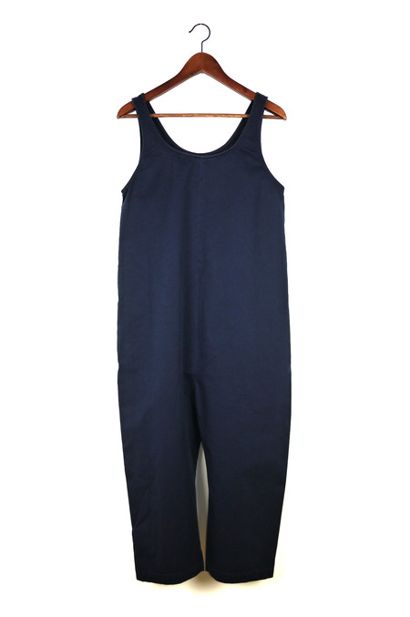 Ilana Kohn Gary Jumpsuit, Navy, Cotton Washed Twill