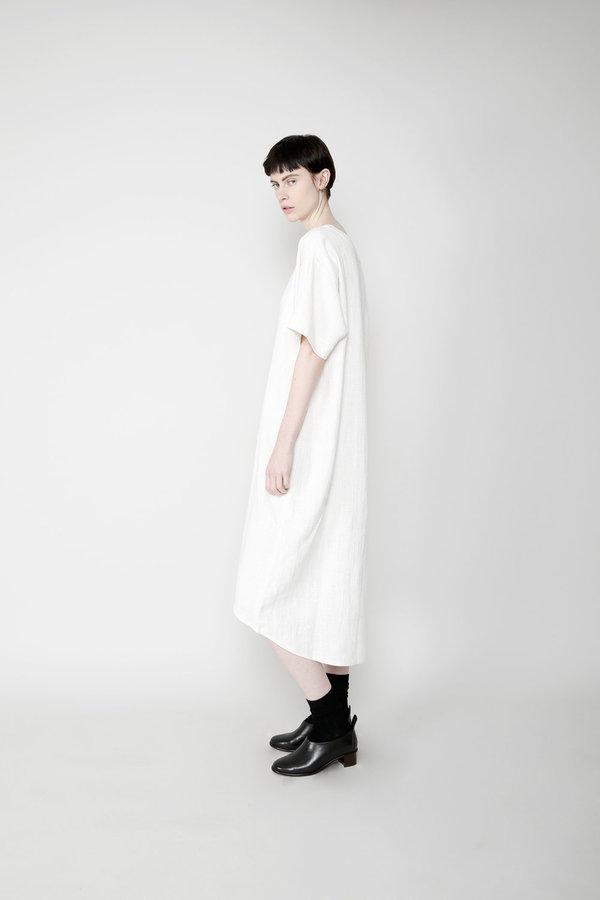 7115 by szeki Relaxed Boat Neck Midi Dress