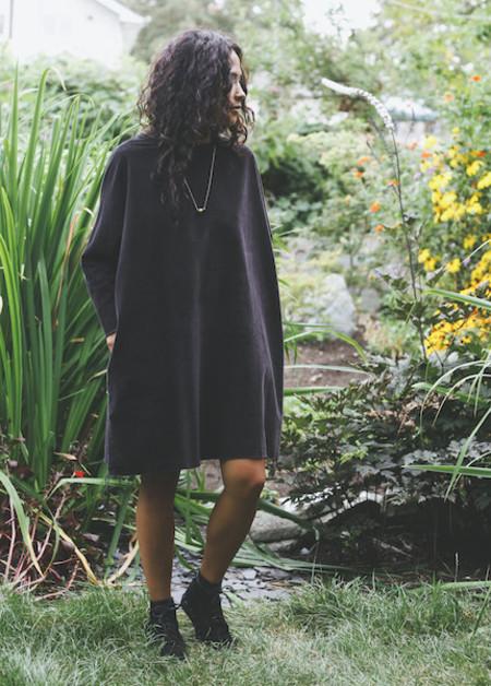 Black Crane - Painter Dress in Black