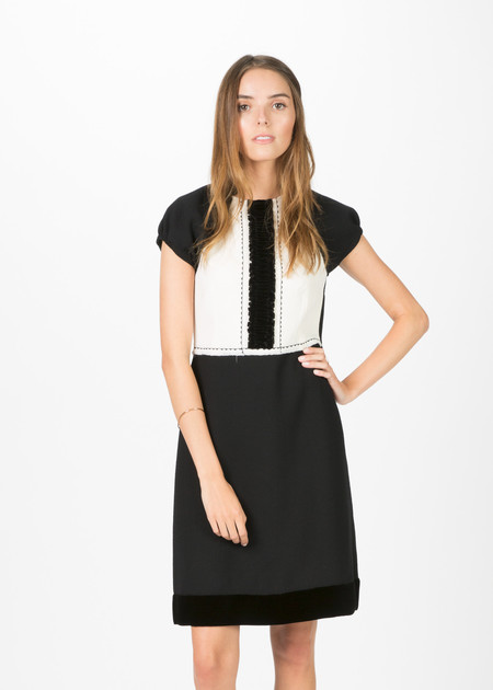 Amelia Toro Wool Crepe Cocktail Dress