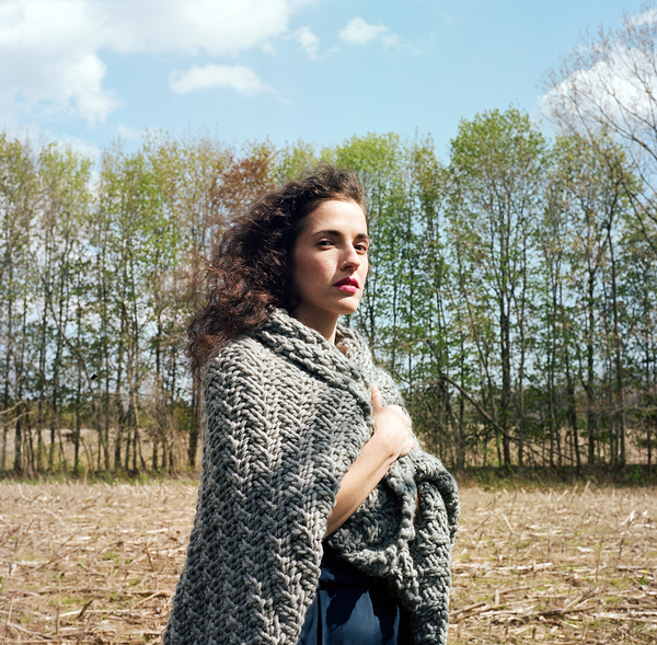 Unknown Goderich Blanket DIY kit includes Peruvian wool & circular needles