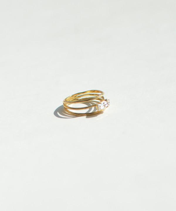 Bing Bang NYC Bing Bang Gold Stacked Baguette Ring
