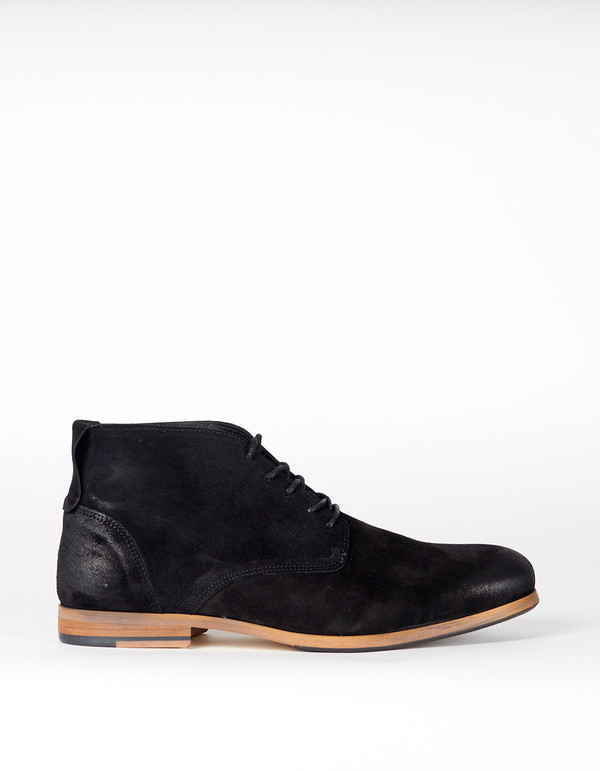 Shoe The Bear Suede Oliver Chukka Black