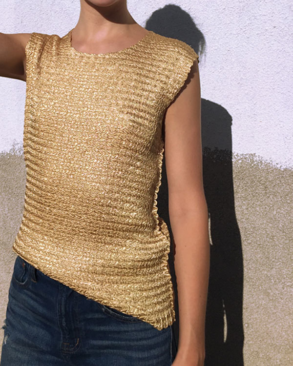 Kaleidos Vintage Gold Textured Top