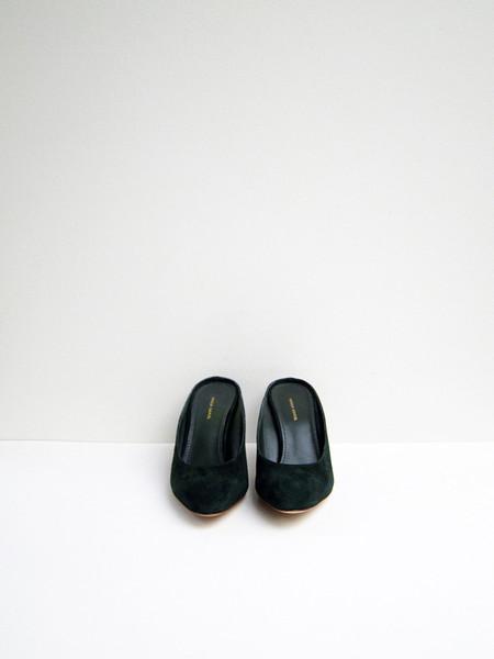 Mansur Gavriel Classic Heel Slipper, Moss Suede