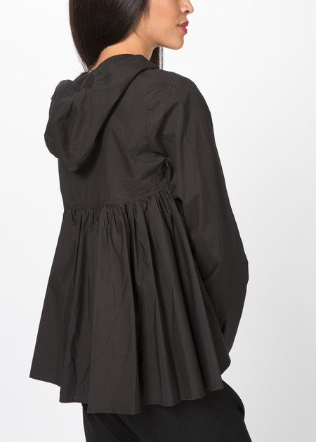 Rundholz Hooded Ruffle Shirt