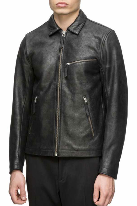 Men's Our Legacy Ton Up Leather Jacket | Blk