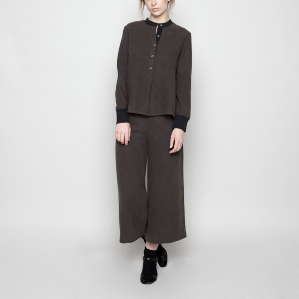 7115 by Szeki Fall Jumper - Linen - Charcoal FW16