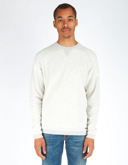 Men's Woolrich John Rich & Bros. Crew Neck Bee Stitch Sweater Grey Marle