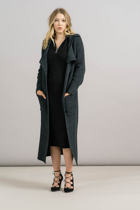 Achro Chunky Ribbed Sweater Coat