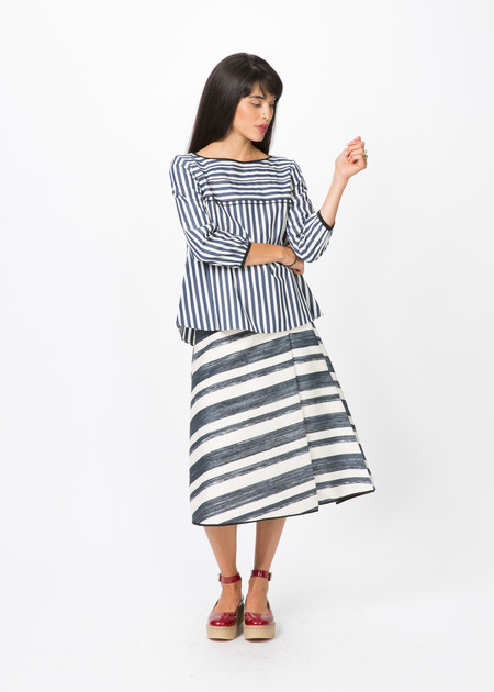 Odeeh Tiered Stripe Blouse