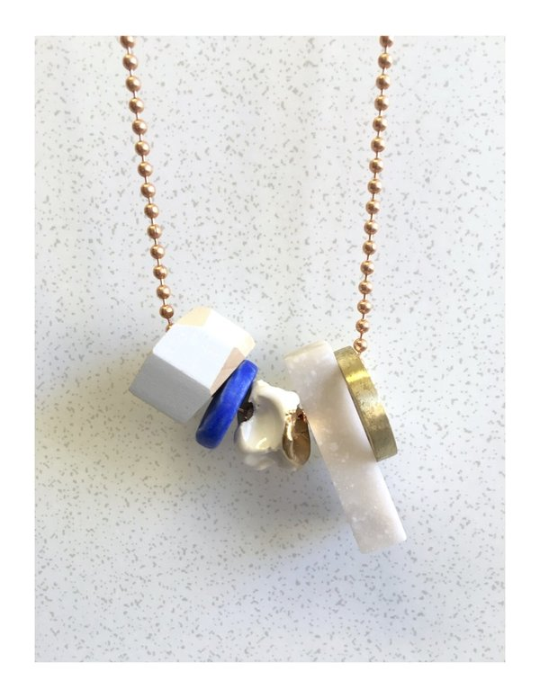 Mixed Materials Necklace #3