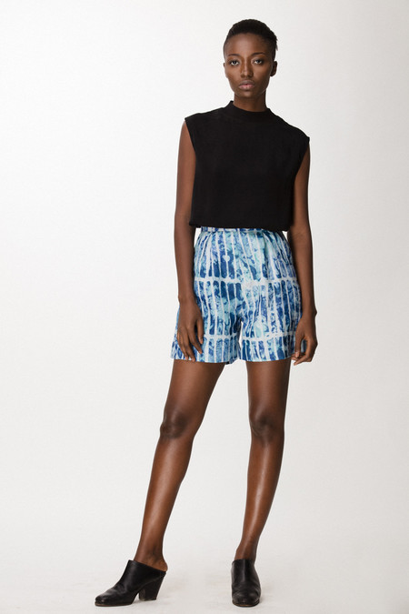 Osei-Duro Lorem Shorts in Marine Chalk