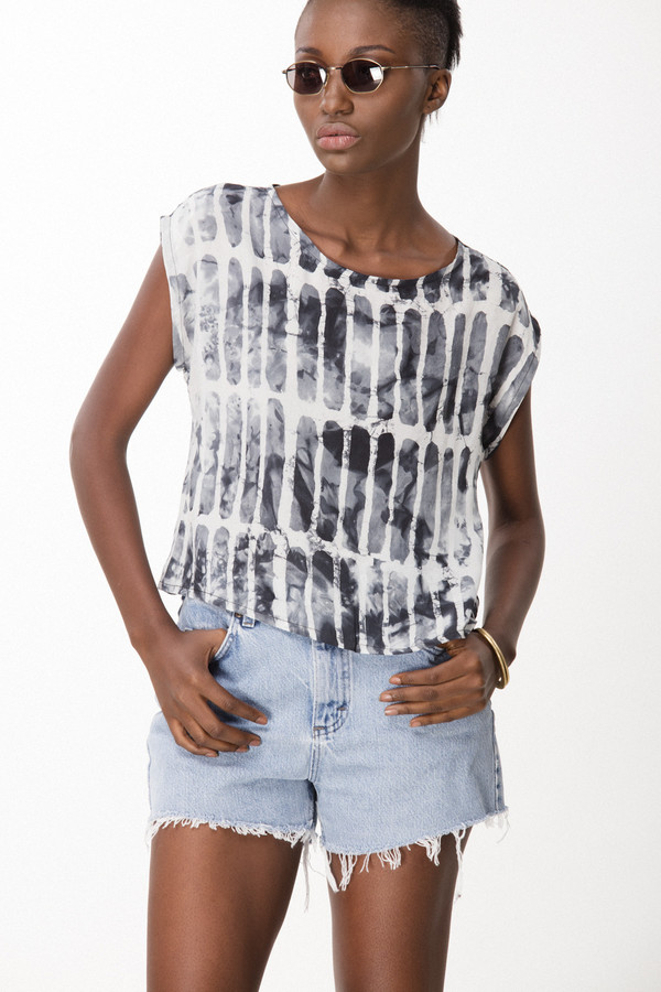 Osei-Duro Maena Shell in Black Chalk