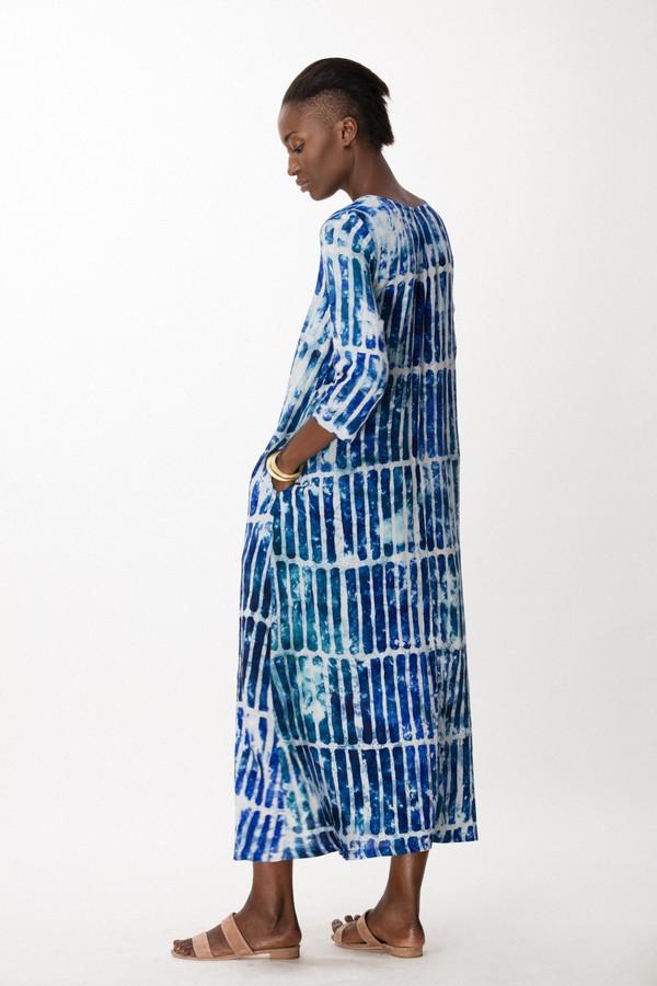 Osei-Duro Nima Dress in Marine Chalk