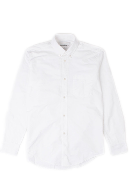 Men's Our Legacy 1940's Shirt Heavy White Oxford