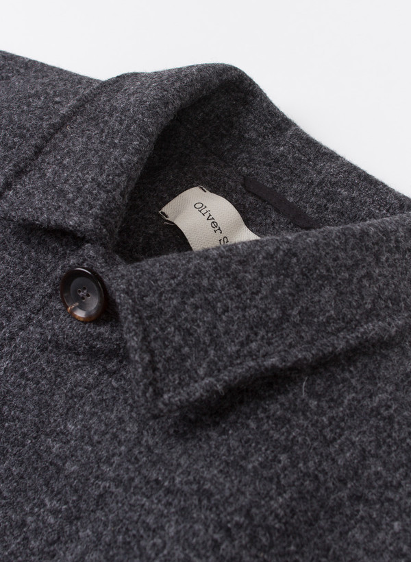 Men's Oliver Spencer Grandpa Coat Barrow Charcoal