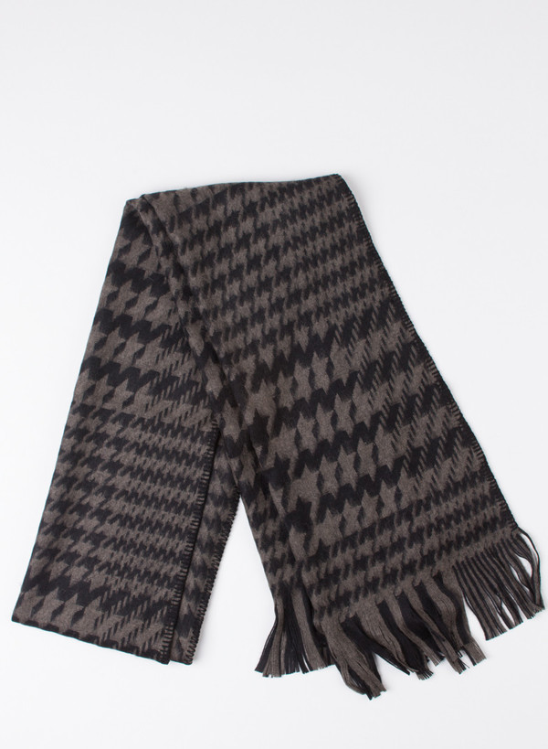 Our Legacy Scarf Black/Mudd Houndstooth
