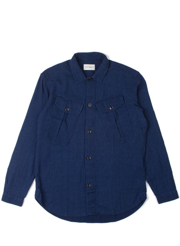 Men's Oliver Spencer Trafalgar Shirt Kildale Indigo Rinse