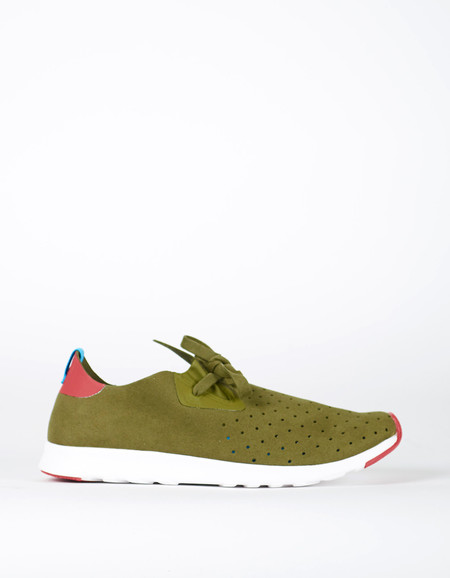 Native Shoes Native Apollo Moc Rookie Green Rover Red
