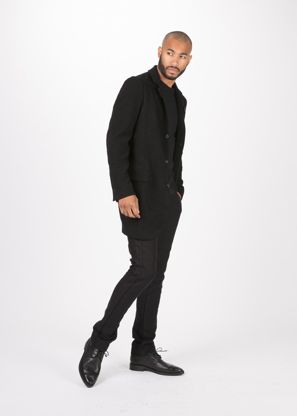 Men's Hannes Roether Viscose Blend Zettel Coat