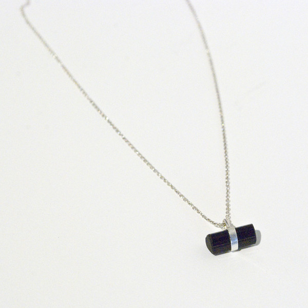 BLTN Crystal Bar Necklace - Black Tourmaline