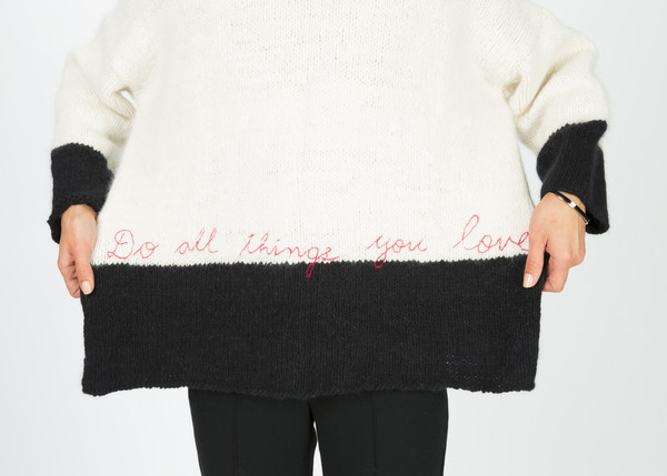 Pero Crew Neck Script Sweater