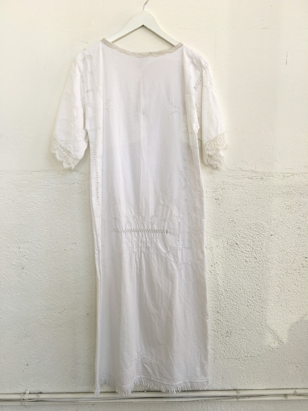 Place Nationale Sleeved Kaftan Lace Maxi
