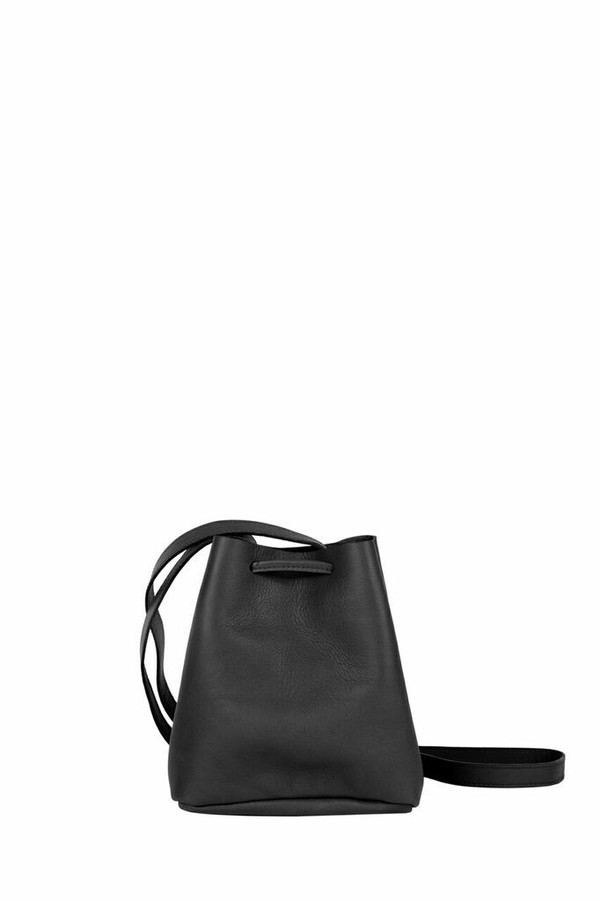 Shaffer Leather Greta Bucket Bag - Black