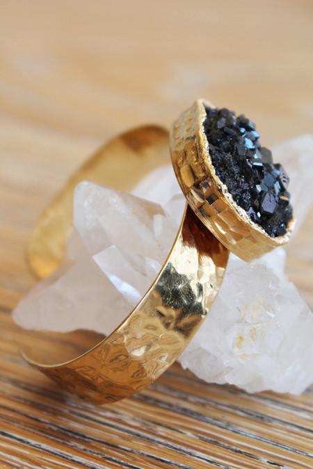 sheila b black garnet cuff bracelet