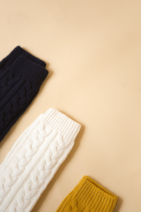 Reality Studio Cable Socks - Navy