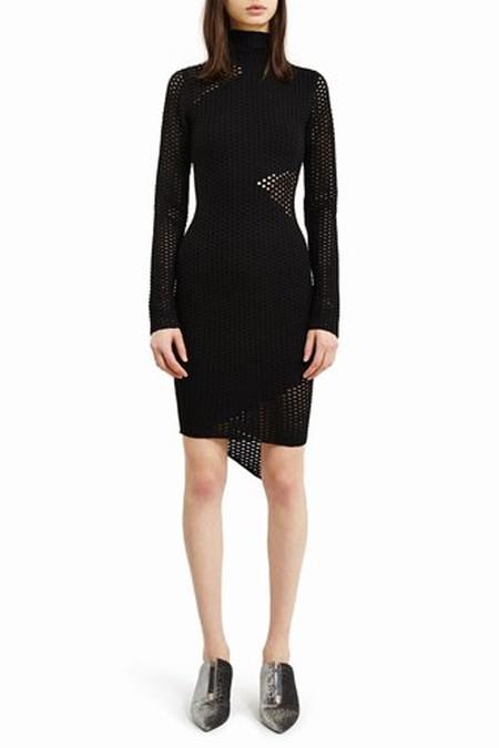 Opening Ceremony Long Sleeve Intarsia Dress | Black