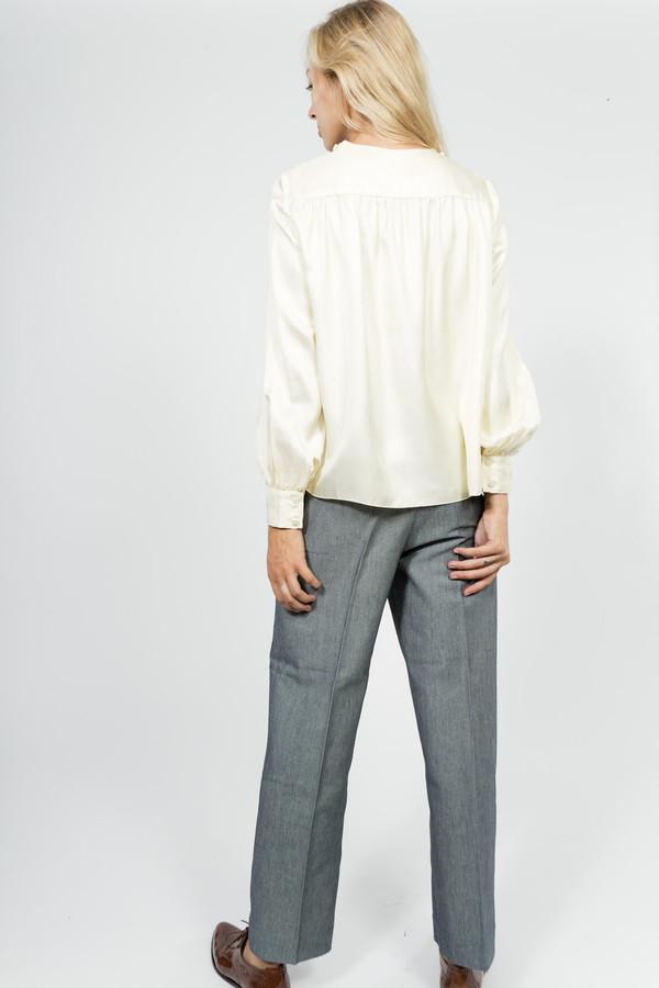 Trademark Silk Twill Shirred Blouse