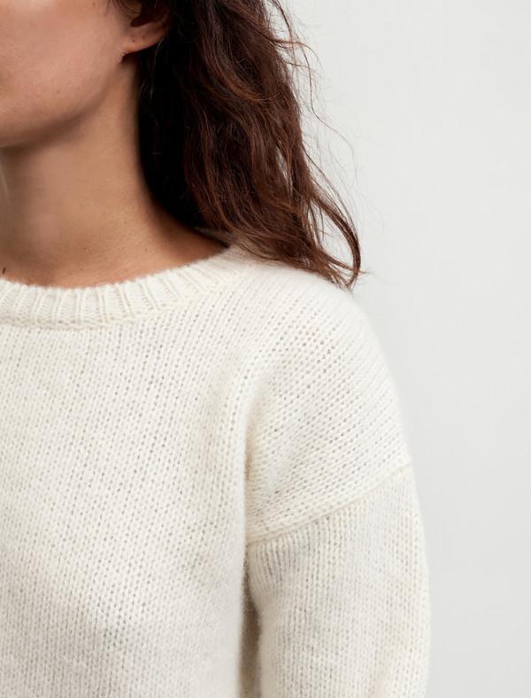 Cristaseya Womens Shetland Sweater White