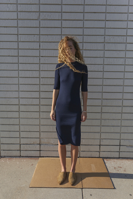 Objects Without Meaning Rib Tee Dress, Navy