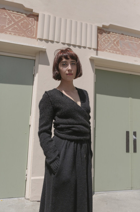 A Détacher Tiara Wrap Sweater in Black