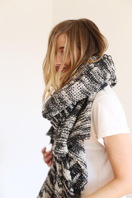 Donni Charm Donni Knit Comfy Tri-Color Scarf
